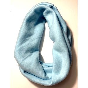 Warm Soft Baby Blue Fleece Infinity Scarf